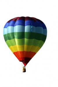 Multicolored hot-air balloon