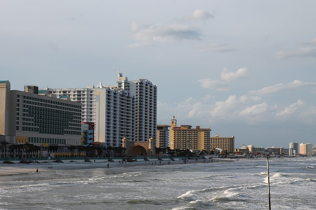 Daytona beach with a view of the Bandshell